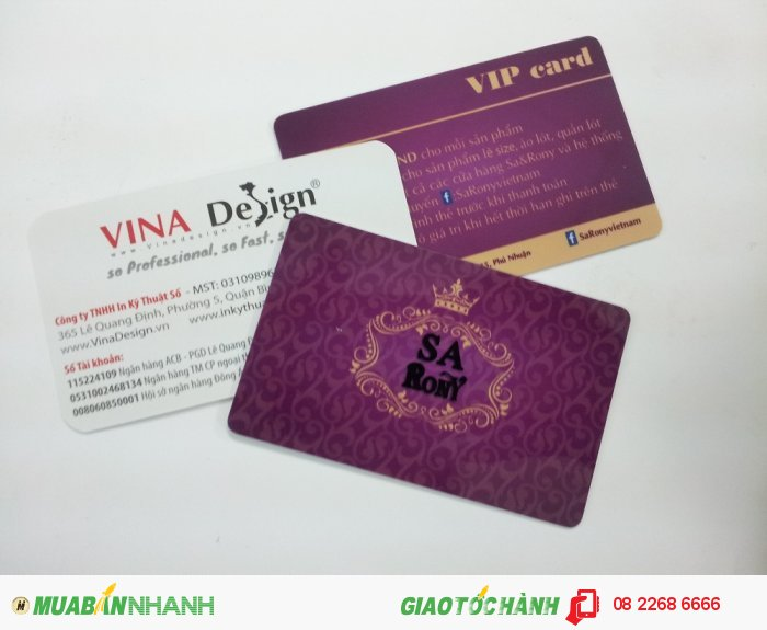 In thẻ VIP cho SA Rony, dịch vụ in thẻ cao cấp tại In Kỹ Thuật Số