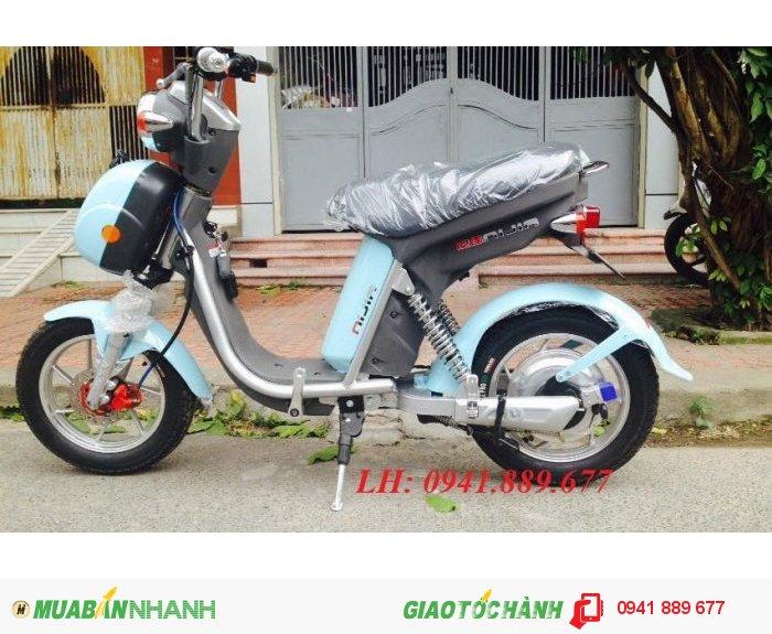 Thông số kỹ thuật Xe đạp điện Nijia: Động cơ 500W, 3 pha.Tải trọng 150kg. Trọng lượng~50kg. Vận tốc 50km. Quãng đường 50km/lần sạc Ắc quy 48V-12Ah.