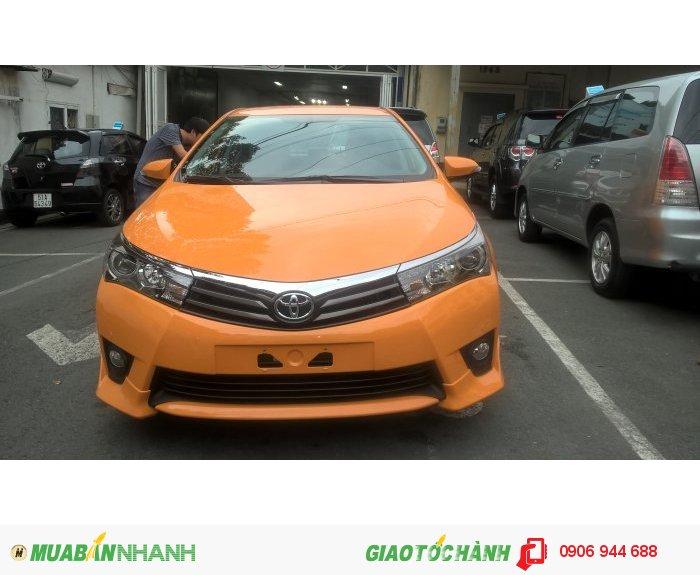 Toyota Altis 2.0Q, màu Cam Fuku, tặng sơn chuyển đổi màu xe, màu độc quyền