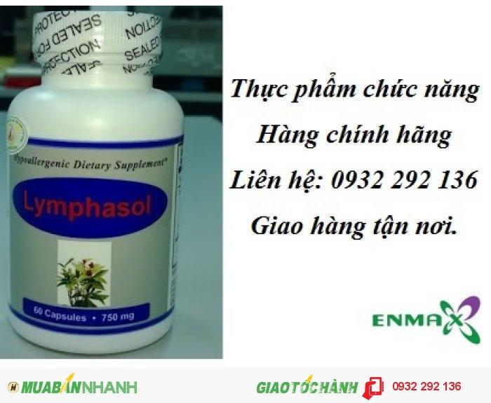 Lymphasol sử dụng tốt cho người bị ung bướu, người bị mắc bệnh mạn tính, người bị suy giảm hệ miễn dịch. Hộp 60 viên, giá bán 550.000đ/ lọ0