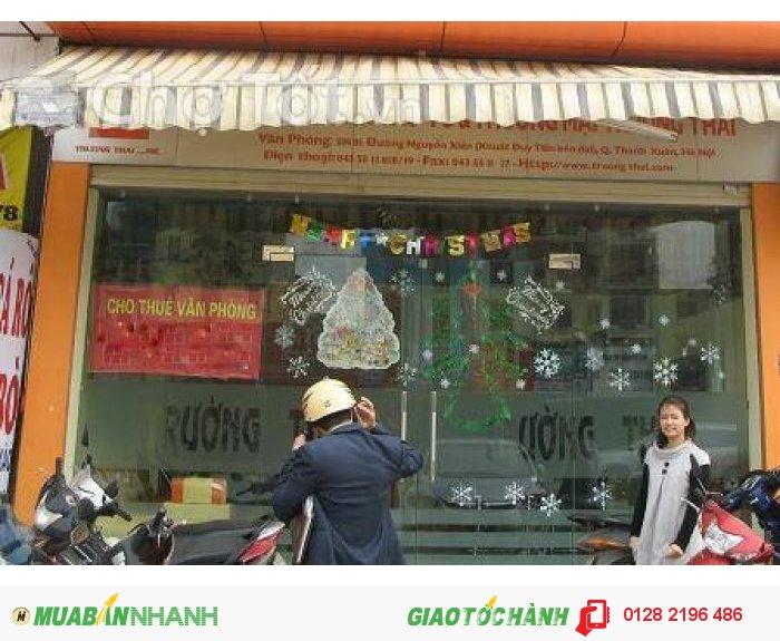Cho thuê nhà mặt phố Nguyễn Xiển, dt 100m2