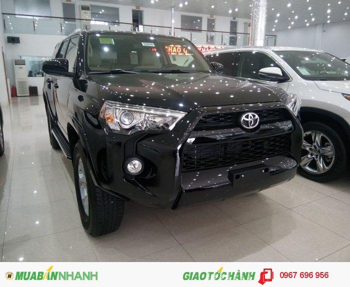 Bán Toyota 4 Runner SR5 2016 màu đen, nhập Mỹ, giao xe ngay, giá rẻ.