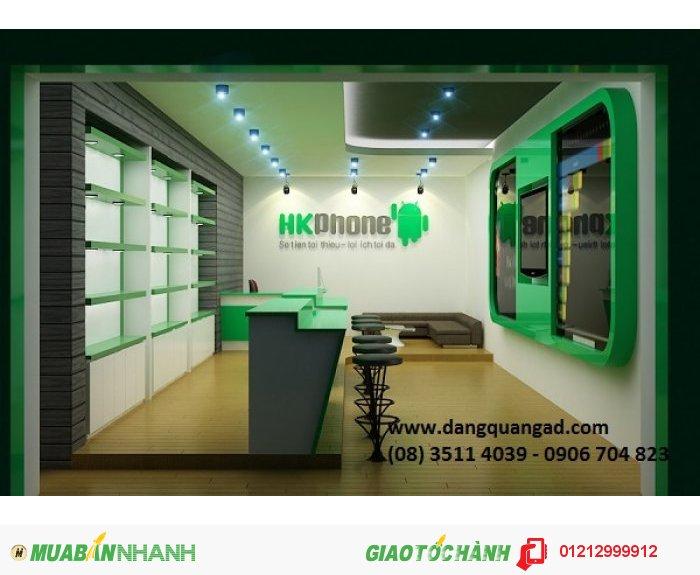 Thiết kế thi công showroom cửa hàng điện thoại quận 6