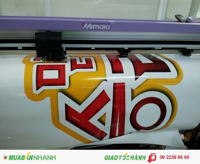 Máy bế Mimaki khổ lớn tại In Kỹ Thuật Số dễ dàng cắt bế quảng cáo các hìn...