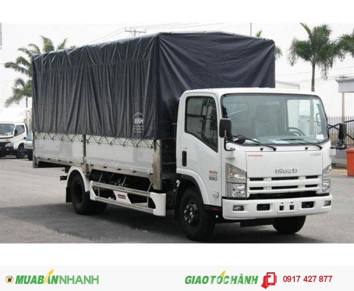 Xe tải isuzu 3t5 thùng bạt nhập khẩu 100%-cam kết giá rẻ nhất-0917427877 0