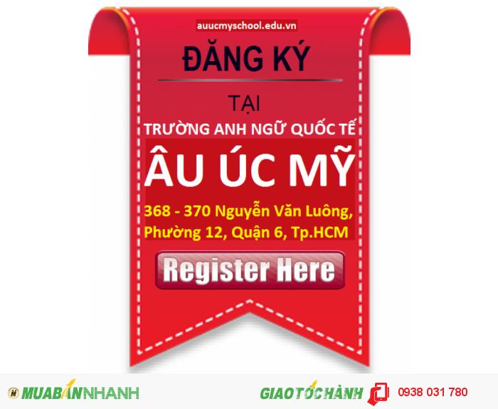 Lịch khai giảng lớp học tiếng Anh trẻ em tại trường Anh ngữ quốc tế Âu Úc Mỹ 368 Nguyễn Văn Luông, Phường 12, Quận 6, Thành phố Hồ Chí Minh