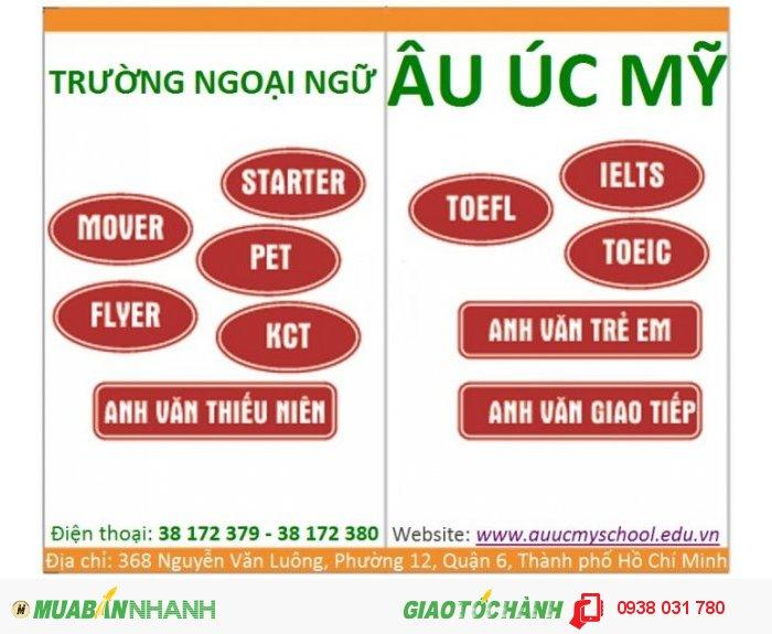 Trường Ngoại ngữ Âu Úc Mỹ đào tạo tiếng Anh chuyên nghiệp từ căn bản đến nâng cao địa chỉ: 368 Nguyễn Văn Luông, Phường 12, Quận 6, TpHCM