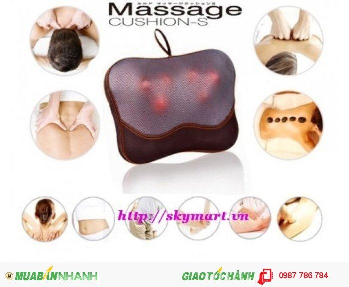 Gối massage hồng ngoại 5D Japan ENK 6 bi xoay