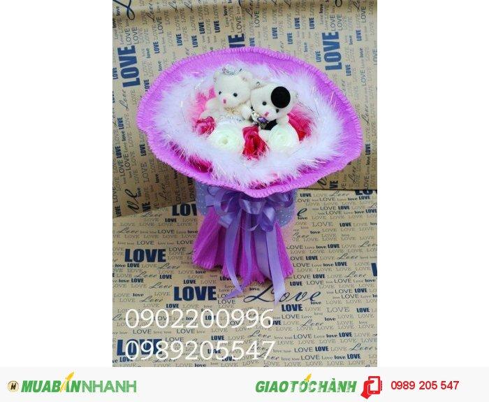 hoa gấu bông cực kì xinh xắn, dễ thương, giá rẻ nhất Sài Gòn0