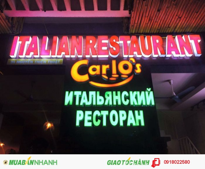 Cần sang nhà hàng Ý cao cấp tại TT TP Nha Trang
