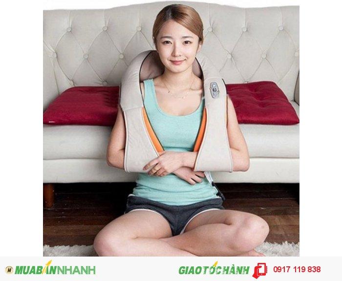 Máy massage vai cổ gáy chuyên sâu có đèn hồng ngoại
