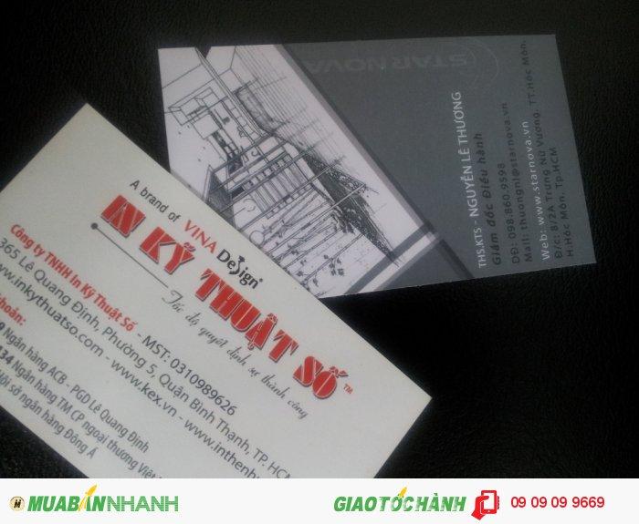 In nhanh giá rẻ, in nhanh card visit tại HCM cùng In Kỹ Thuật Số Lê Quang Định, in n...