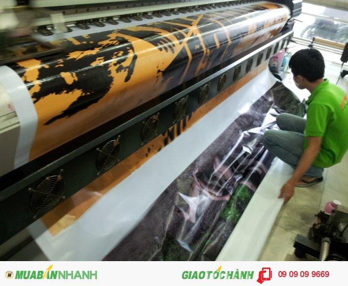 Máy in mực dầu khổ lớn 3.2m đáp ứn tất cả nhu cầu in hiflex quảng cáo ngoài t...
