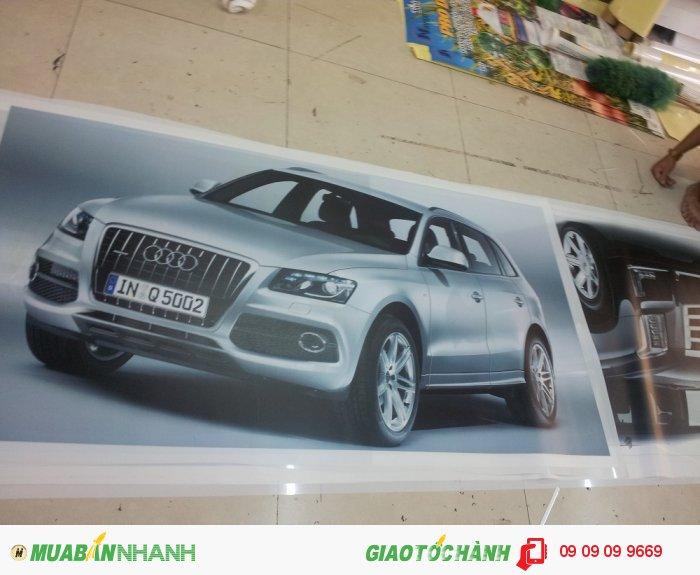 In backlit film hình xe hơi ôtô cho trang trí showroom ôtô tại TPHCM - đặt in ấn và g...