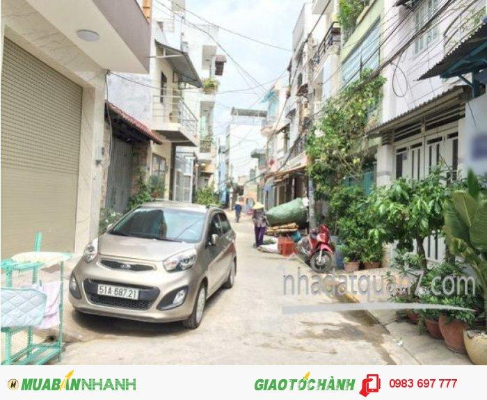 Bán gấp nhà 1 lầu đẹp hẽm nhựa 5m đường Lý Phục Man, P. Bình Thuận, Q7