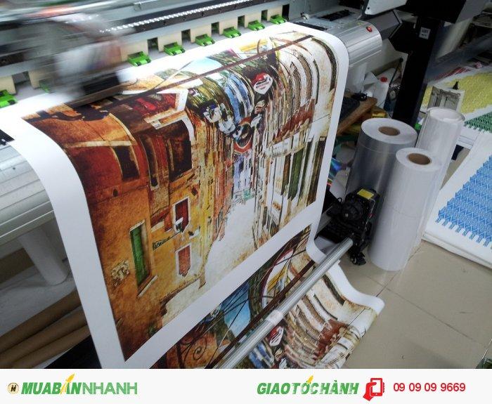 In canvas giá rẻ | In tranh canvas mực nước trên máy khổ 1.8m, in số lượng lớn ch...