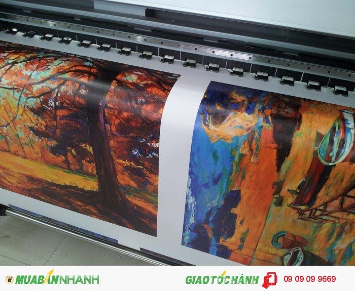 In tranh canvas mực dầu bóng | In kỹ thuật số khổ lớn là loại hình in ấn khổ...