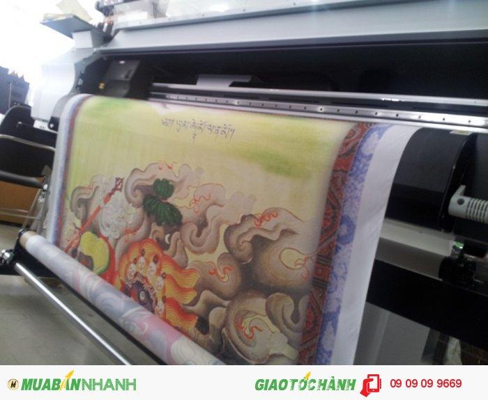 Thành phẩm in silk tranh tôn giáo thực hiện bởi In Kỹ Thuật Số | In silk mực dầ...