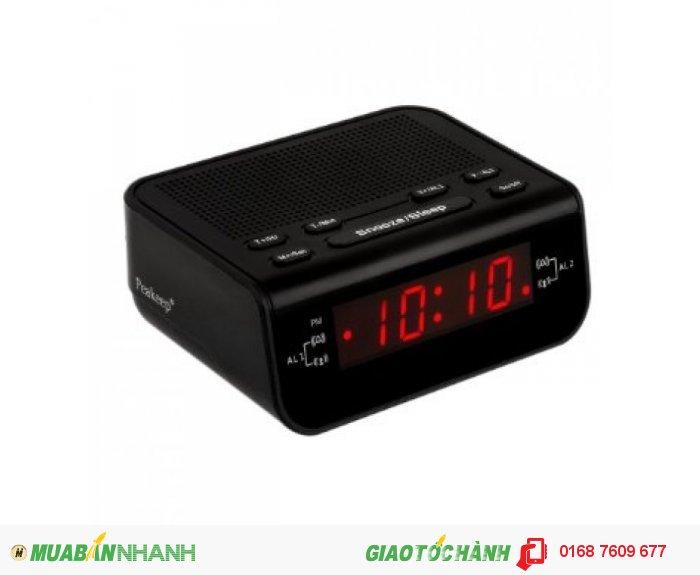 Peakeep Compact Digital FM Alarm Clock Radio with Dual Alarm, Snooze, Sleep Timer and Nice Red Time Display Giá: 840.000 vnđ