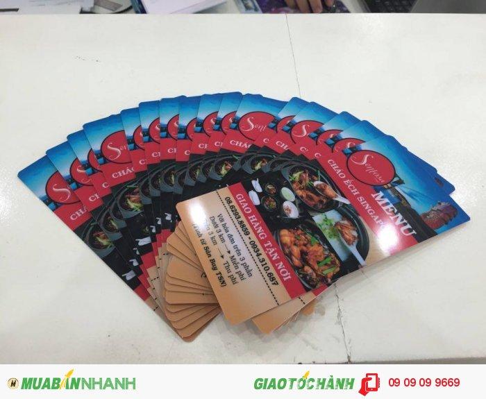 In menu cho nhà hàng Sentosa Food - Cháo Ếch Singapore | In menu số lượng theo yêu cầu,...