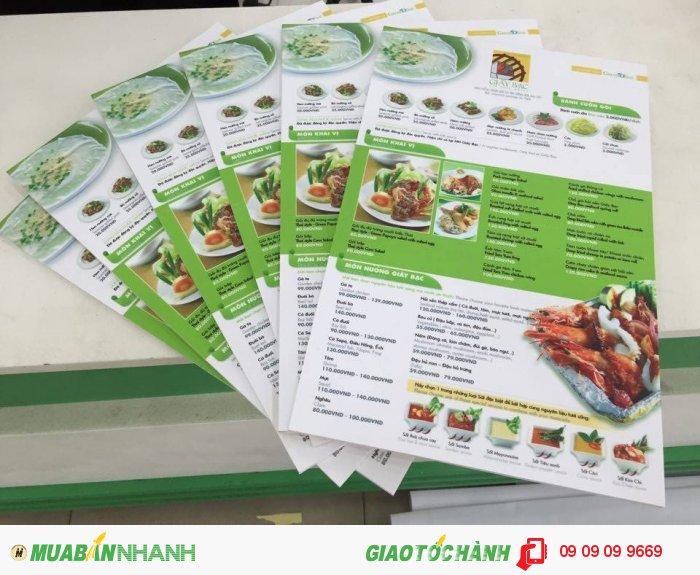In menu cho quán nướng Giấy Bạc | In menu số lượng ít, in menu số lượng dưới 1...