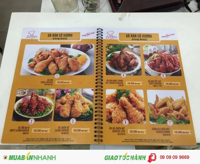Thực đơn Papas' Chicken & Pizza hấp dẫn với các món chế biến từ gà, đặc biệt...