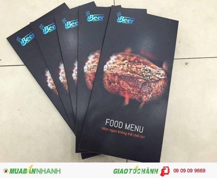 In menu cho quán nướng iBeer | In menu kiểu mới với chất liệu PP cán format bền đ�...