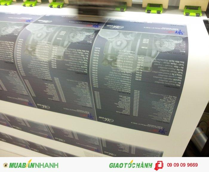 Với dàn máy in kỹ thuật số hiện đại việc in menu với chất liệu PP được th...