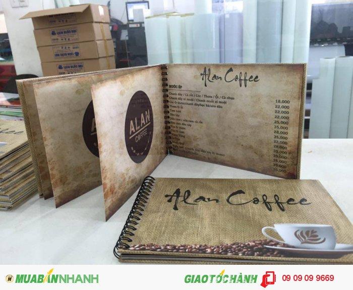 In menu cho Alan Coffee | Menu mang phong cách rất bụi, rất ngầu, góp phần xây dựng p...