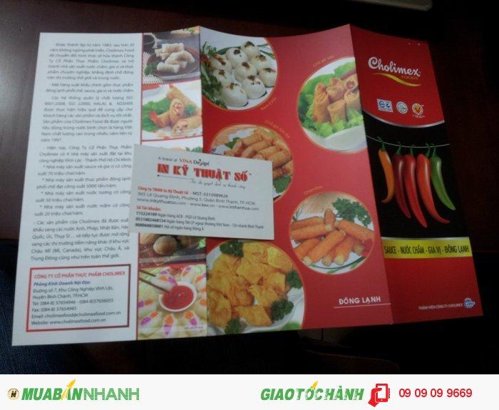 In brochure cho Cholimex - In Kỹ Thuật Số nhận in brochure số lượng lớn cho các công ty, doanh nghiệp, chuỗi thương hiệu với giá ưu đãi, liên hệ innhanh@inkythuatso.com để nhận báo giá in brochure số lượng lớn