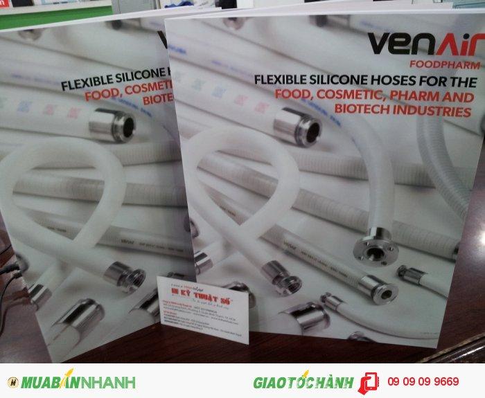 In catalogue cho VenAir Food Pharm | In catalogue giới thiệu sản phẩm vòi, ống silicone d...
