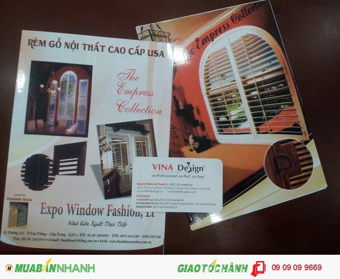 In catalogue cho DNTN Thành Hoa, sản phẩm Rèm gỗ nội thất cao cấp USA | In catalogue b...