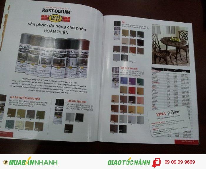 In catalogue giới thiệu bộ sản phẩm Sơn công nghiệp Rust-Oleum | In catalogue khổ A4...