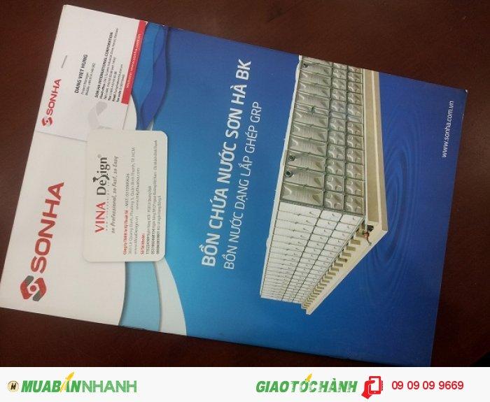 In catalogue cho Sơn Hà | In catalogue giới thiệu bồn chứa nước Sơn Hà BK, bồn nư�...