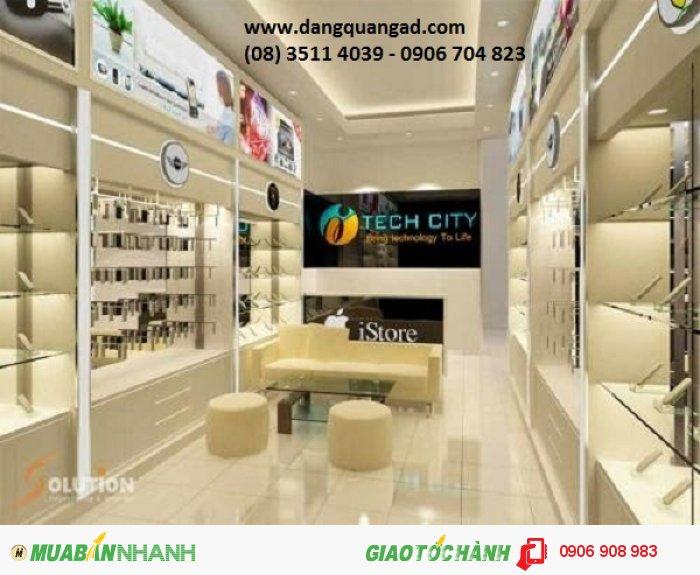 Thiết kế thi công showroom cửa hàng điện thoại di động