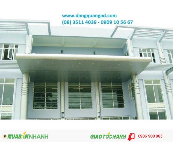 thi công ốp aluminium mái đón,ốp aluminium mái vòm,ốp alu mái đón sảnh mặt tiền