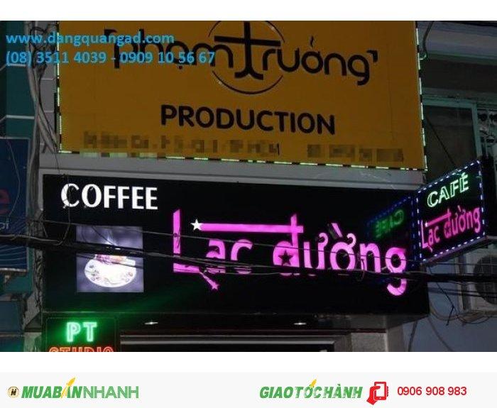 Các mẫu bảng hiệu chữ nổi led quán cafe đẹp và ấn tượng
