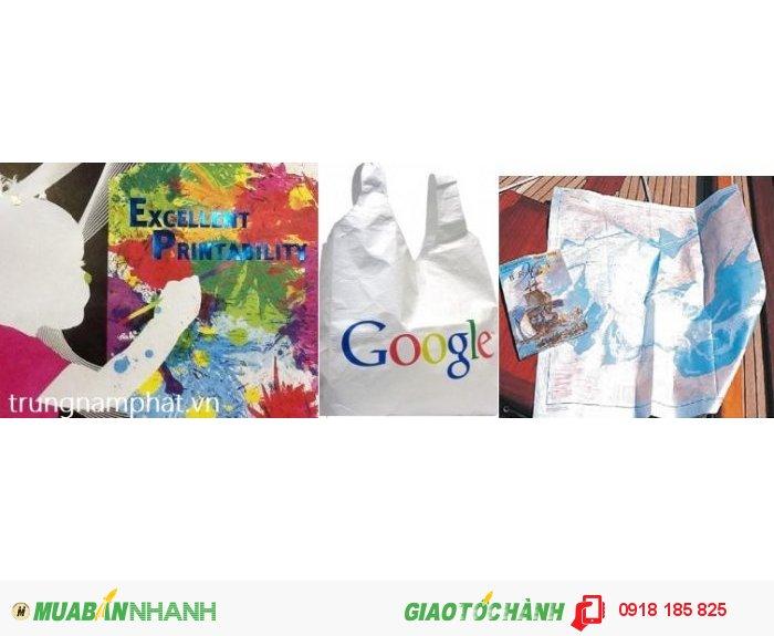 Hình ảnh: Bản đồ, túi xách, trang vẽ được làm bằng giấy tyvek