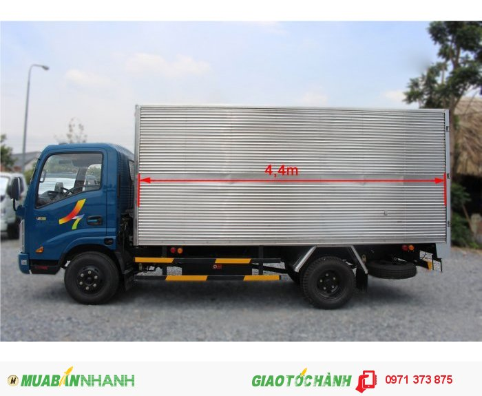 Xe tải veam VT255 thùng kín