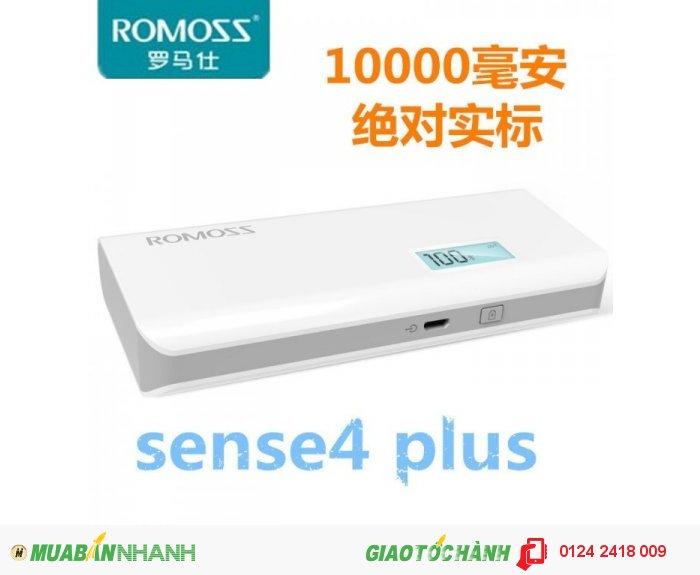Pin Dự Phòng Romoss Sense 4 Plus 10.000 mAh Có Màn Hình Báo Pin0