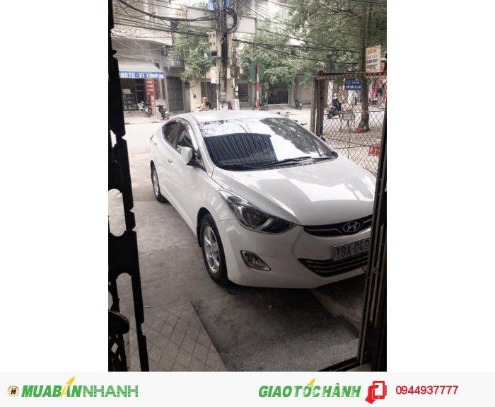 Bán Xe ô tô huyndai Elantra gls 1.8 AT 2013 nhập khẩu màu trắng đẹp