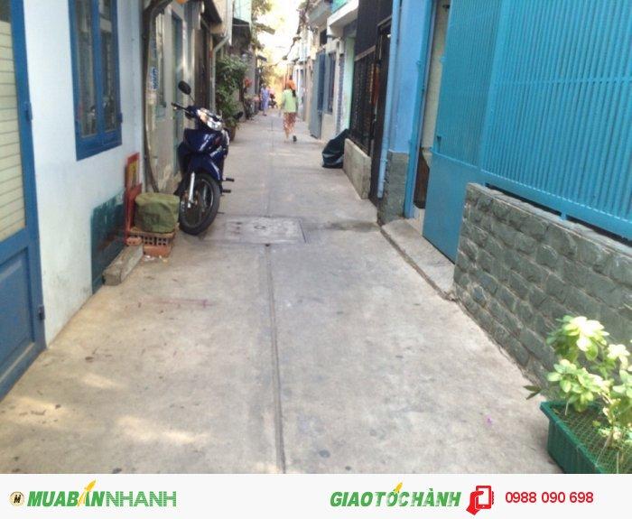 Bán nhà hẻm Lê Văn Sỹ, P.14, quận 3. DT 3.3x8m