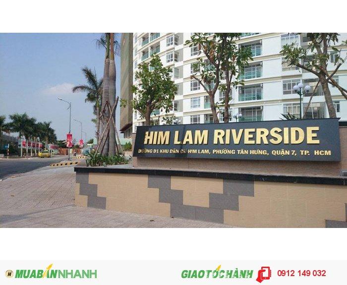 Cho thuê CHCC Him Lam Riverside Q7, DT 76m2, 2PN, đầy đủ nội thất, giá 16 triệu