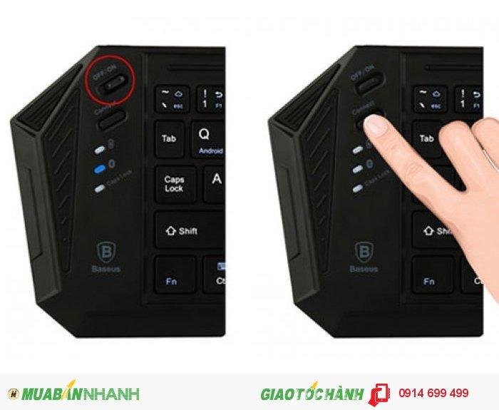 Tắt mở, kết nối đơn giản và nhanh chóng bằng các phím được thiết kế tiện dụng trên sản phẩm.