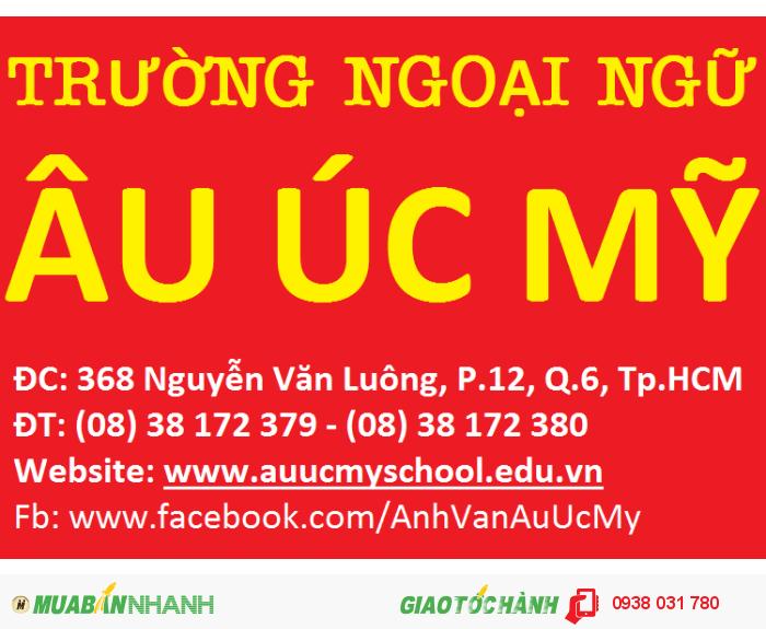 Trung tâm ngoại ngữ Âu Úc Mỹ hiện là trung tâm Anh ngữ hàng đầu tại Việt Nam về chương trình Anh văn Trẻ em. Đến với các khóa học tại trung tâm, học viên sẽ được học thông qua các hoạt động vui chơi thú vị và đầy cảm hứng và tiếp xúc với ngôn ngữ một cách tự nhiên với giáo viên bản ngữ.