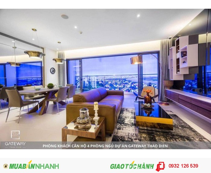 Bán căn hộ Gateway Thảo Điền 4 Pn view sông