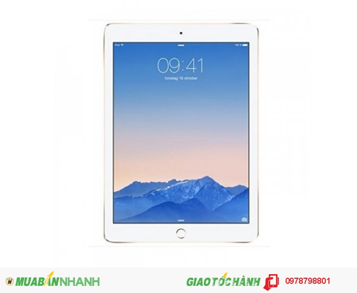 Apple iPad Air 2 MH0W2LL/A 10-Inch Retina Display, 16GB (Vàng)