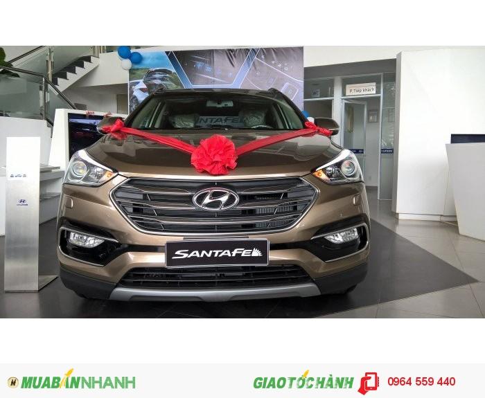 Bán Xe Hyundai Santa Fe Gia Lai Đời 2016 Bản Facelif, Màu Nâu, Giá Tốt