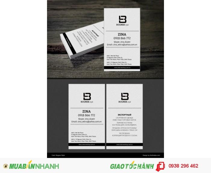 Thiết kế in ấn danh thiếp nhanh đẹp chất lượng