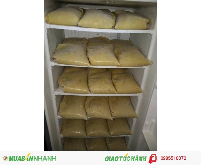 Cung cấp cơm (thịt) sầu riêng làm chè, bánh, sinh tố,...1